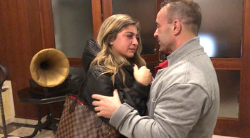 The Girls Say Goodbye to Joe Giudice in Italy