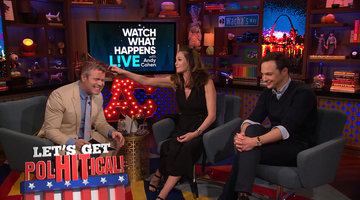 Diane Lane Hits Andy Cohen with Bottles