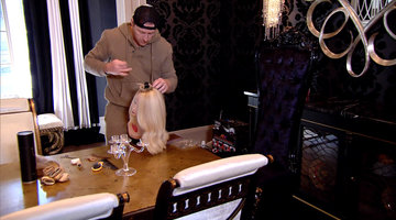 See the Finished Wig Kroy Biermann Crafted