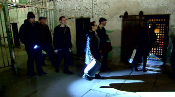 The Manzos Get Ready to Sleep in a Haunted Prison