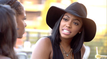 Kenya Moore Confronts Porsha Williams About Anger Management