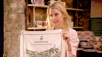 Julie Monatgu Struggles over Mapperton Tea Towels