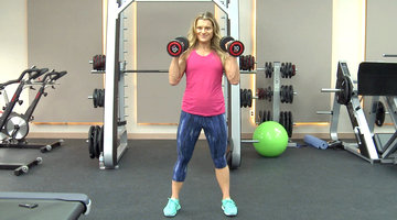 Work Out New York Exercises: Overhead Push Press and Lunges