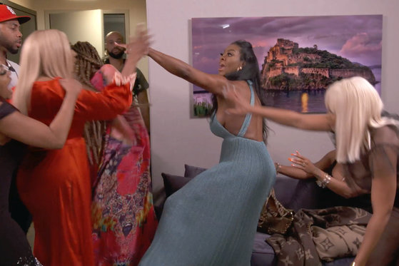 Nene Leakes and Kenya Moore's Argument Gets Broken Up by Security