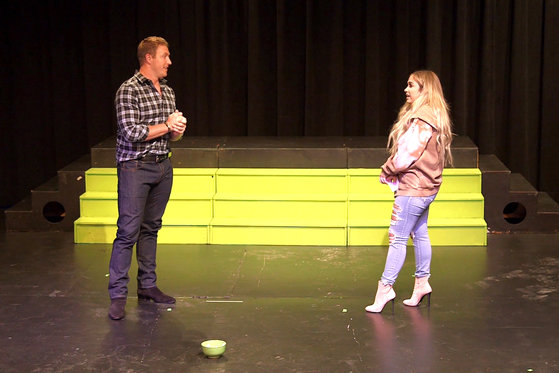 Watch Kroy and Ariana Biermann Do Improv