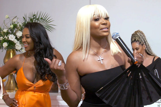Marlo Hampton Calls Security on Kenya Moore During Her Wig Event