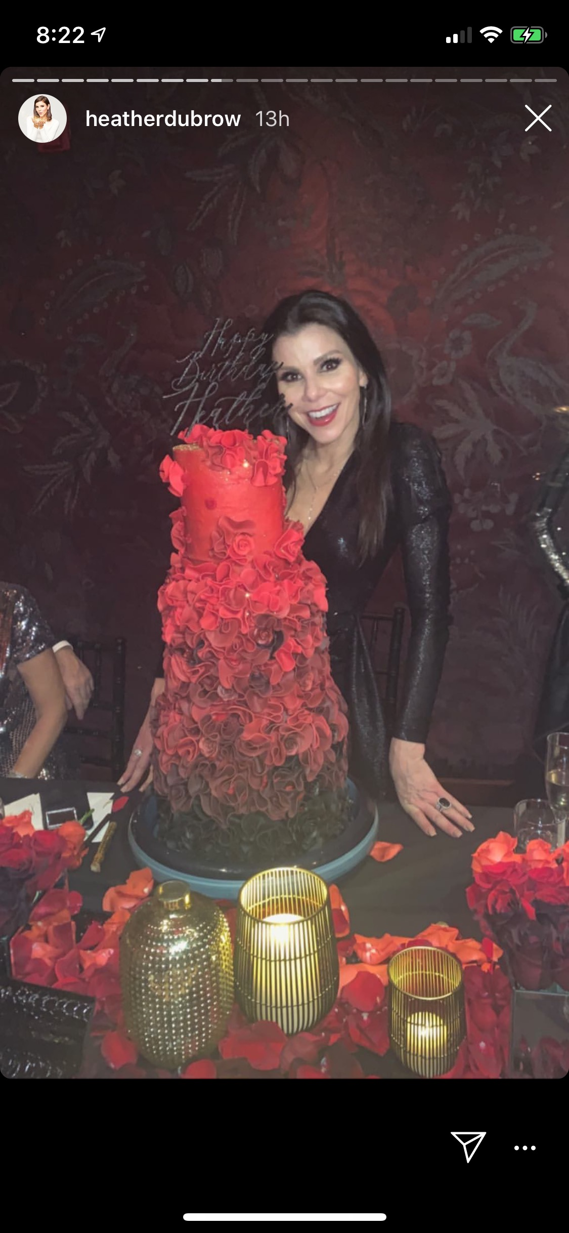 Next It Was Off To Tao LA Where Heather Got Her Over The Top Confection A Three Tiered Birthday Cake Decked In An Ombre Floral Design