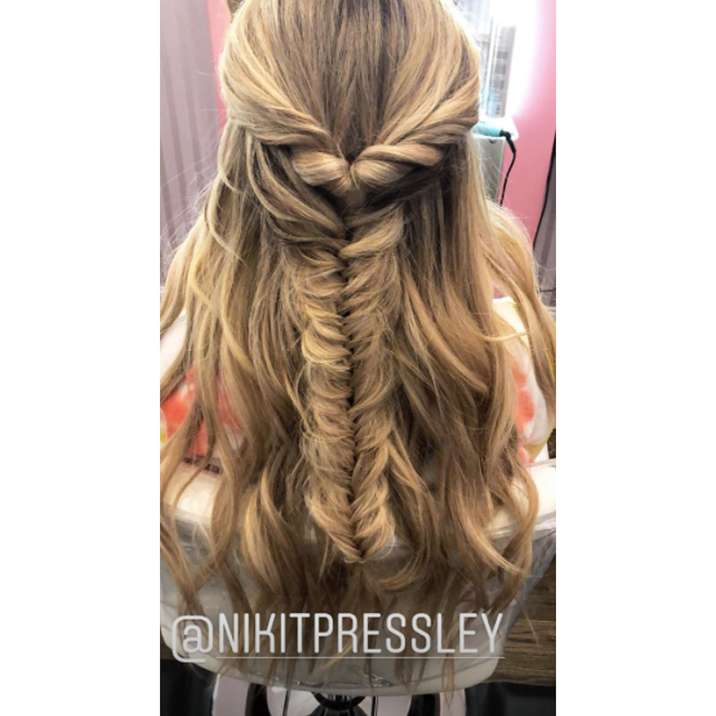 ... Ponytail And Then Fishtail Braided In A Style Thatu0027s Perfectly Undone.  Brielle Tagged Hairstylist Niki Toney Pressley In Her Photo.