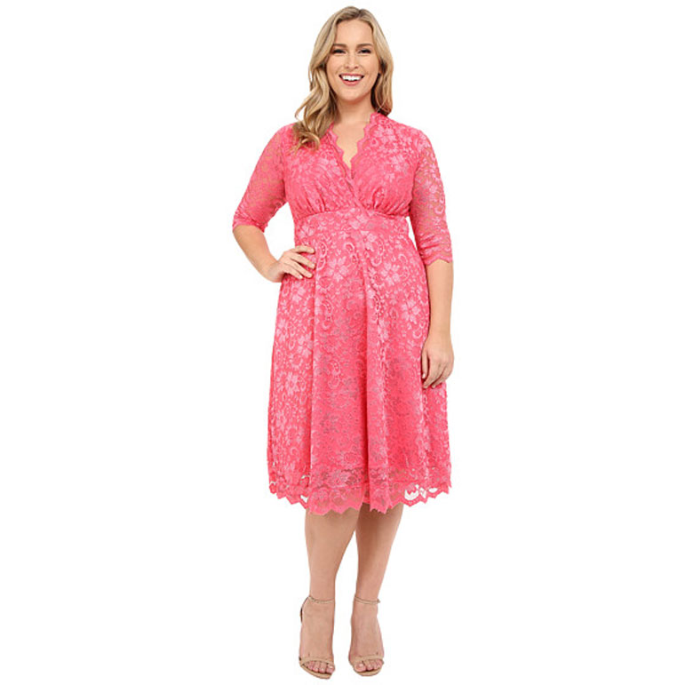 d3e1a1fba96b Who knew that the shoe company was the secret go-to place for wedding guest  attire on a budget? This bright pink number is available in sizes XL  through 5X, ...