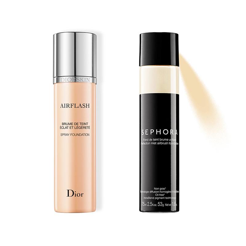 Dior Airflash Spray Foundation And Sephora Perfection Mist Airbrush
