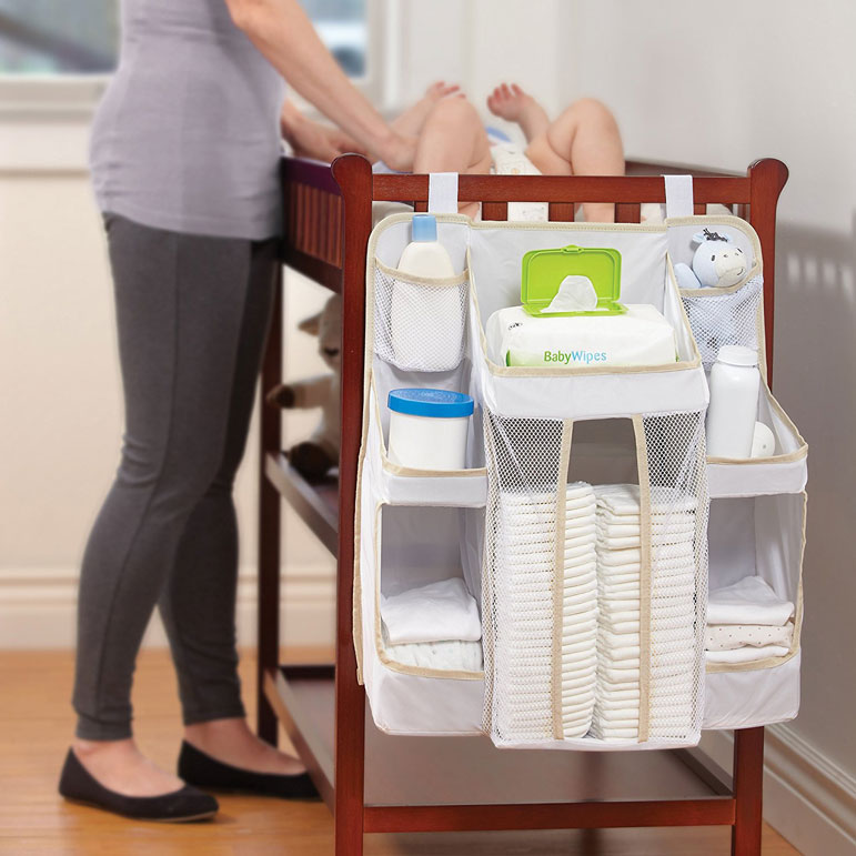 Youu0027ll Quickly Learn That Balancing All Your Diapering Products On The  Changing Station Is A Disasteru2014one Kick From Baby And The Desitin And Wipes  Will Go ...