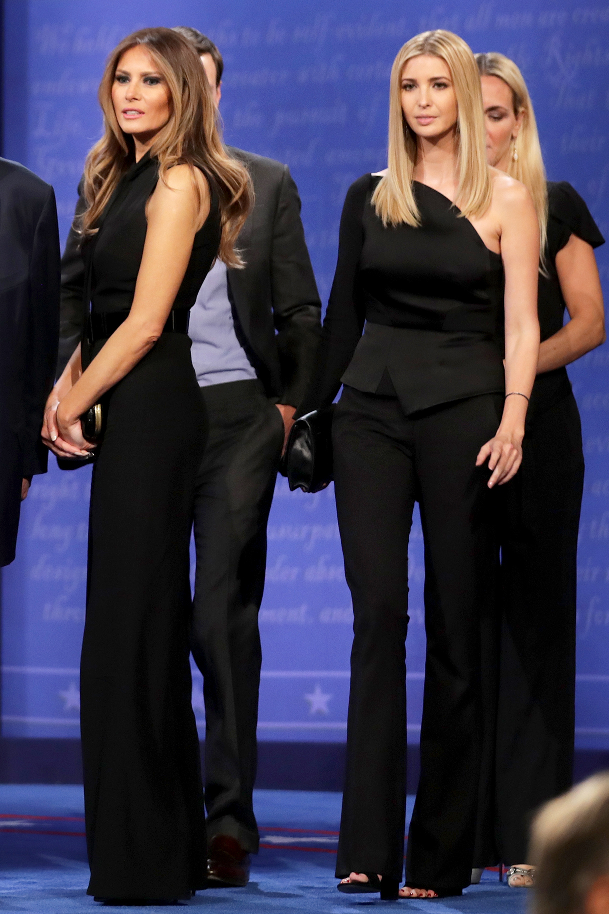 The ever-glam Ivanka Trump also opted to wear black last night ...